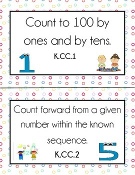 Common Core Math and ELA Standards for Posting