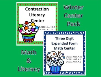 Math and Literacy Center Common Core Pack for Second and Third Grades