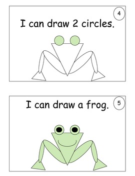 Common Core  Math and Literacy I Can Draw a Frog