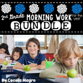 Common Core Math and Literacy Morning Work for the Entire Year* Second Grade*