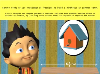 Common Core Math Activity- (Sammy's Birdhouse)- Division of Fractions