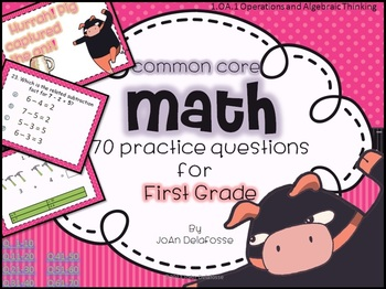 Common Core Math for FIRST GRADE 1.OA.1 70 Ninja practice questions App