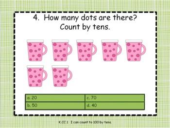 Common Core Math for Kindergarten Ninja Bunnies 50 practice questions