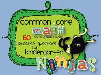 Common Core Math for Kindergarten Ninja Bunnies 50 practic