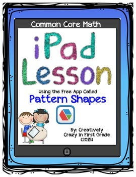 iPad Lesson for Common Core Math shapes, fractions and graphing