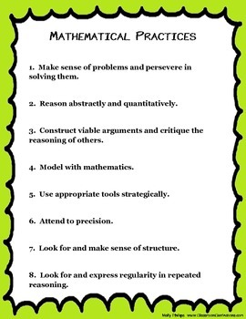 Common Core Mathematical Practices