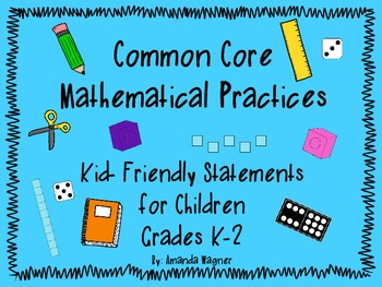 Common Core Mathematical Practices : Kid- Friendly