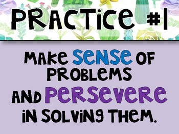 Common Core Mathematical Practices Posters - 4 COLORED VERSIONS!