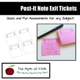 FREE! Exit Ticket Post-It Note Template