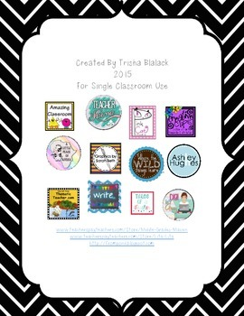 Common Core Mathematical Practices Signs Chevron Chalk Theme