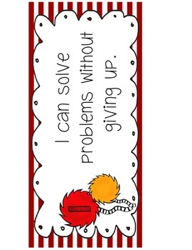 Common Core Mathematical Practices Signs Dr. Seuss Theme