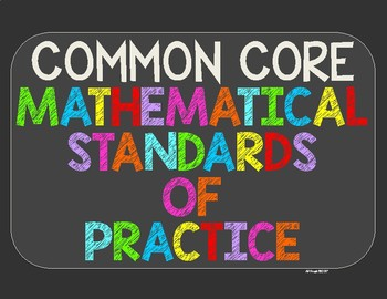 Common Core Mathematical Standards of Practice