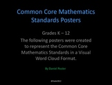 Common Core Mathematics K-12 Word Cloud Posters
