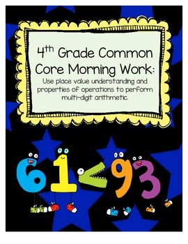 Common Core Mathematics Morning Work (4th Grade) -- Arithm