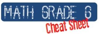 Common Core Mathematics Standards Grade 6 Cheat Sheet