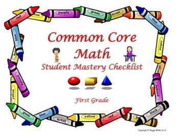 Common Core Mathematics Student Mastery Checklist 1st grade