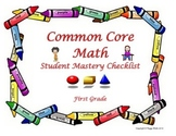 Common Core Mathematics Student Mastery Checklist 1st grade