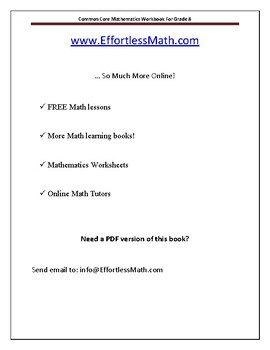 Common Core Mathematics Workbook For Grade 8: Step-By-Step Guide