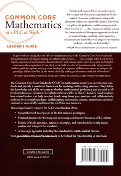 Common Core Mathematics in a PLC at Work: LEADER'S GUIDE