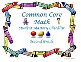Common Core Mathmatics Student Mastery Checklist 2nd Grade