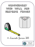 Common Core Measurement Word Wall and Sentence Frames