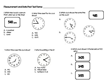 Common Core Measurement and Data Time