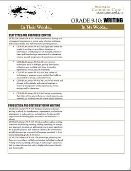 Common Core Mega-Bundle:  Posters, Graphic Organizers & Vocabulary (ELA 9-10)