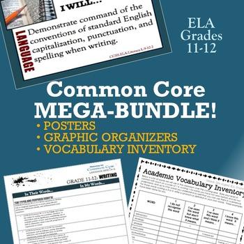 Common Core Mega-Bundle: Posters, Graphic Organizers & Vocabulary (ELA 11-12)