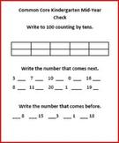Common Core Mid-Year Kindergarten Assessment