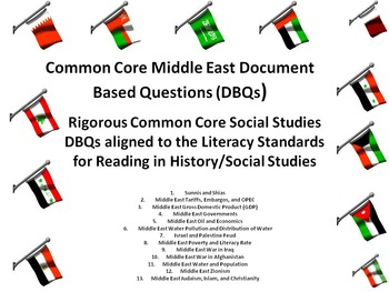Middle East Document Based Questions (DBQs) - 15 Different