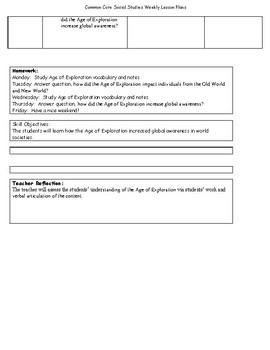 Common Core 7th grade Social Studies Lesson Plans for An Entire School Year!