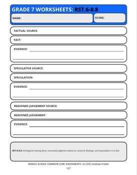 Common Core - Middle School Workbook - Grade 7 - ELA, Math, Social, Science