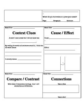 Common Core Mini Literacy Strategies Grades 3-5