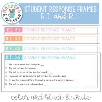 Common Core Standards Pack for Third Grade (R.L. and R.I.)