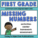 Common Core Missing Numbers (First Grade Math Activities)