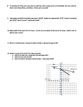 Common Core Mixed Review