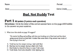 Common Core Module Bud, Not Buddy Final Test
