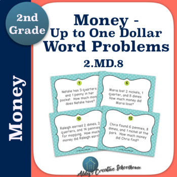 Money Word Problems Up to One Dollar