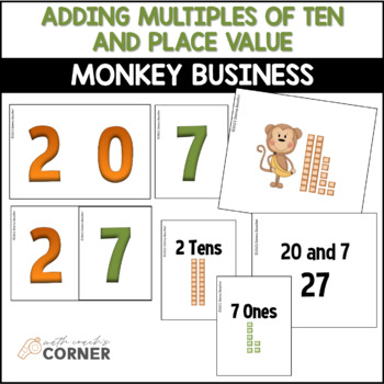 Common Core: Monkey Business Adding 10s and Place Value Workstation Activities