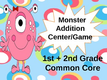 Common Core Monster Addition Sums to 20