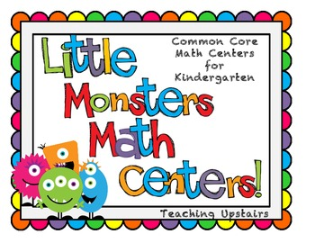 "Common Core ""Monster Math Centers"""