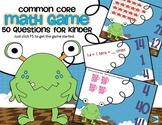Common Core Monster Math Game for Kindergarten - Interactive Powerpoint