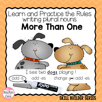 Common Core: More Than One: Lessons, student book, & bulletin board for plurals