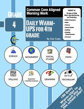Common Core Morning Warm-Ups:  30 Daily Warm-Ups for Gr. 4:  Pack #1