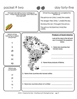 Common Core Morning Warm-Ups:  30 Daily Warm-Ups for Gr. 4:  Pack #2