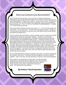 1st Grade Morning Work | 1st Grade Daily Spiral Review - Free Sampler