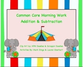 Common Core Morning Work (1st Grade) Circus Math (Addition & Subtraction) {20}