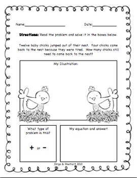 Common Core Morning Work (1st Grade) Farm Math (Addition & Subtraction) {20 Pg}