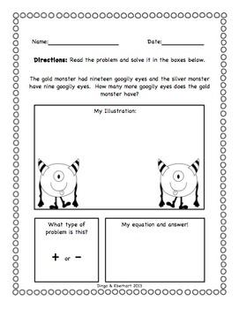 Common Core Morning Work (1st Grade) Halloween Math (Addition & Subtraction)