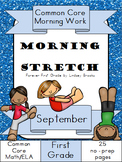 September Morning Work: First Grade Common Core Morning Stretch
